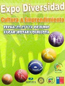 Afiche expo diversidad cultura y emprendimiento AFICHE