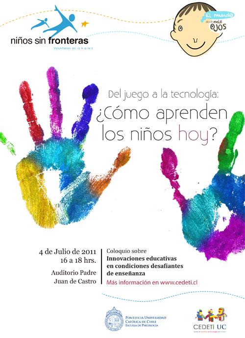 Invitación a Coloquio Del juego a la tecnología, cómo aprenden los niños de hoy