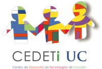 Logo Centro de Desarrollo de Tecnologías de Inclusion CEDETi