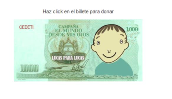 Imagen Billete Campaña Lucas para Lucas