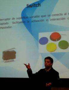Ignacio Camarda expuso sobre el uso de TICs en pacientes con discapacidad física