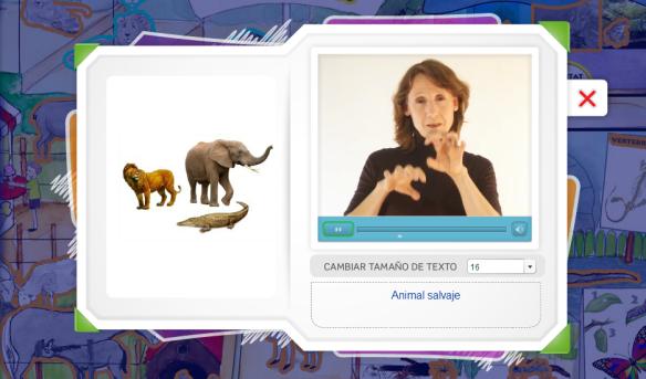 Diccionarios escolares visuales con lengua de señas