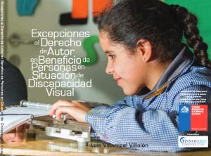 Afiche promocional del Seminario sobre el Tratado de Marrakech, legislación y discapacidad, Chile
