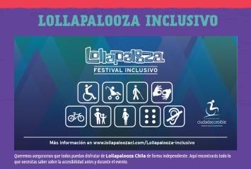 Afiche Lollapalooza Festival Inclusivo 2016