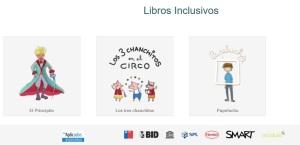 Pagina web de libros inclusivos de Cedeti UC