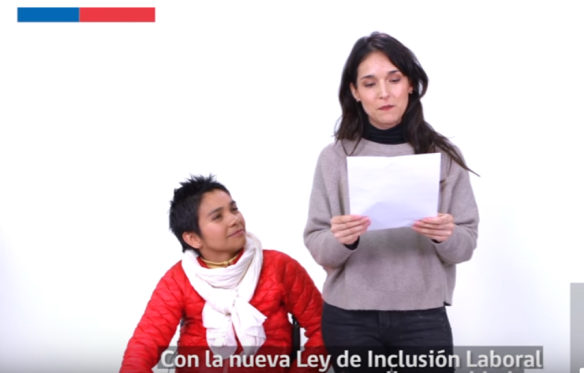 Actores del video sobre Inclusión Laboral
